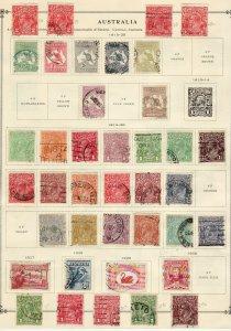 1913 - 1938 Australia used collection Kangaroos KGV KGVI CV approx $750.00