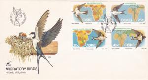 Ciskei 1984 Migratory Birds FDC