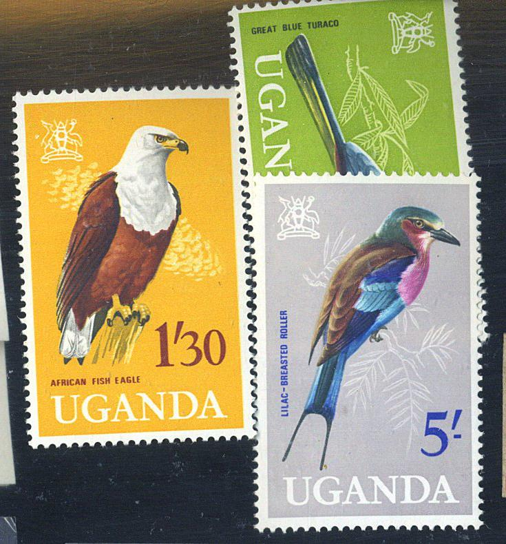 Uganda #106-8 MINT F-VF OG NHC at$21