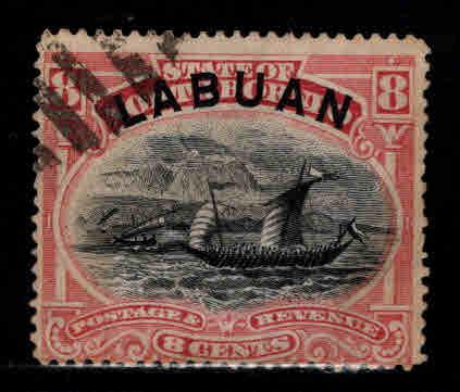 Labuan Scott 79 Used Dhow sailing ship stamp