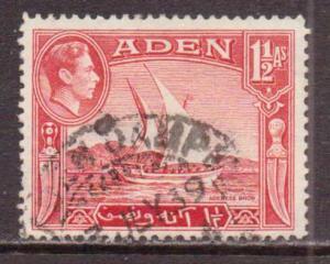 Aden   #19  used  (1939)  c.v. $0.65