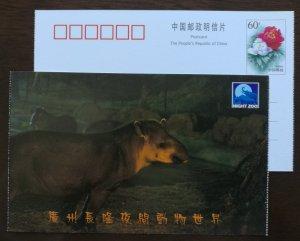 South American Brazilian Tapir,China 2001 guangzhou changlong night zoo PSC