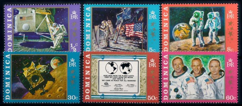 [66124] Dominica 1970 Space Travel Weltraum Apollo 11  MNH