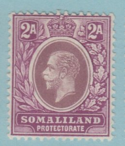 SOMALILAND 53a VIOLET PURPLE MINT  HINGED OG *  NO FAULTS VERY FINE!1912 - 1919