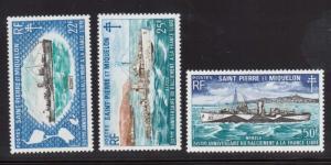 Saint Pierre & Miquelon #412 - #414 VF/NH Set