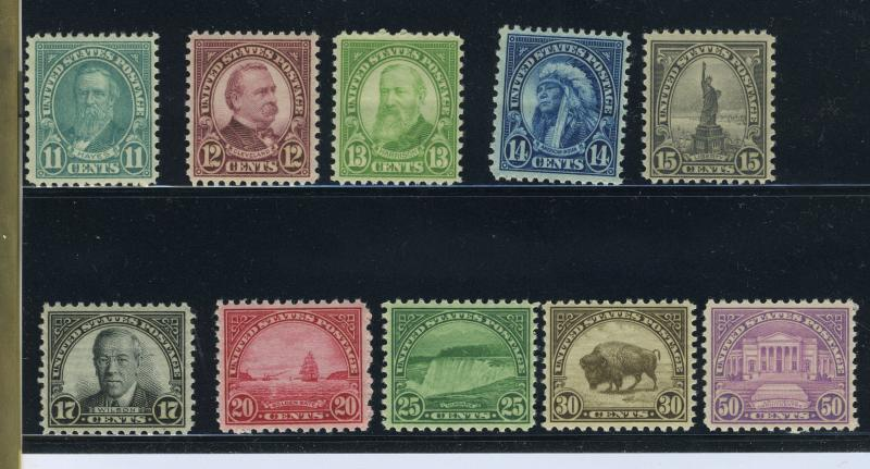 Scott 692-701 Set of 10 VF NH Post Office Fresh