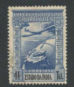 Portuguese India Scott's #C4 -Airplane- Used