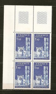 France Cathedrale de Lodeve 1976 Block of 4 MNH