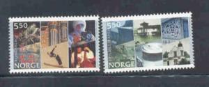 Norway Sc 1334-5 2002 City anniv  stamp set mint NH