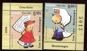 Montenegro 183-4 Europa Cept 2008 MNH