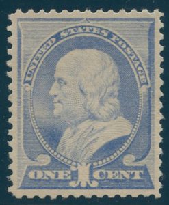 US Scott #212 Mint, VF/XF, Light Hinge