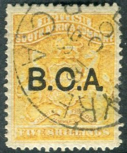 BRITISH CENTRAL AFRICA-1891-95 5/- Orange-Yellow.  A fine used example Sg 12