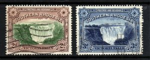 SOUTHERN RHODESIA KG VI 1935-41 Victoria Falls POSTAGE & REVENUE SG 35a/35b VFU