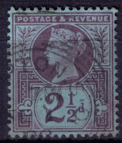 Great Britain Sc #114 2-1/2p Violet Blue Shade Very Fine