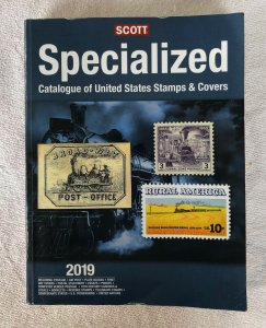 CURRENT 2019 SCOTT SPECIALIZED CATALOG US STAMPS & COVERS WITH FREE SHIPPING