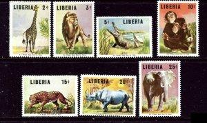Liberia 451-57 MNH 1966 Animals    (ap5409)
