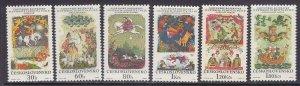 Czechoslovakia 1594-99 MNH 1968 Slovak Fairy Tales Full 6 Stamp Set Very Fine