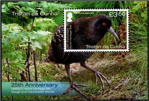 2020 Tristan Da Cunha BIrd - UNESCO SS (Scott NA) MNH