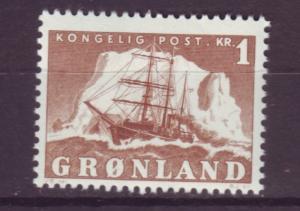 J16586 JLstamps 1950-60 greenland mnh #36 ship