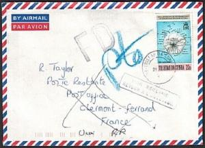 TRISTAN DA CUNHA 1998 Returned cover to France.............................73472