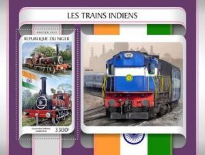 Z08 NIG17205b NIGER 2017 Indian trains MNH ** Postfrisch