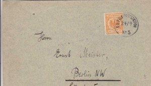 1899, German Feldpost #5 to Berlin (34936)