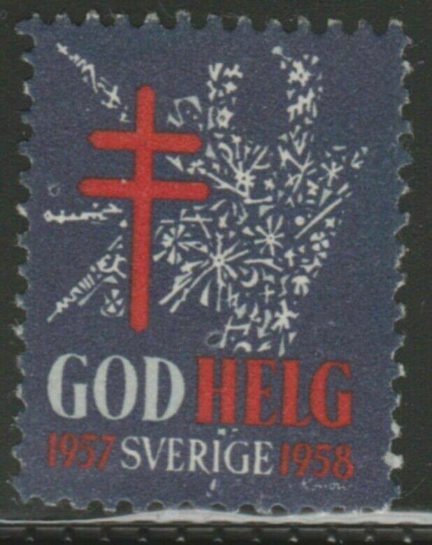 Sweden 1958 Anti-tuberculous Camp Cinderella Poster Stamp Reklamemarken A7P4F816