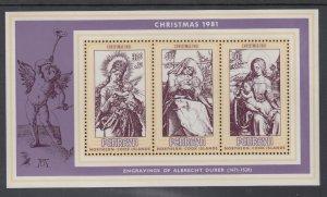 Penrhyn Island 186a Christmas Souvenir Sheet MNH VF
