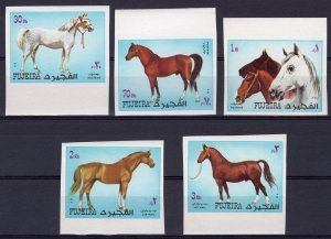 Fujeira 1972 ARABIAN HORSES set (5v)  Imperforated Mint (NH)