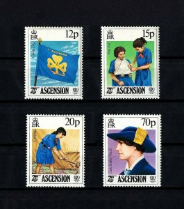 ASCENSION - 1985 - GIRL GUIDES - YOUTH YEAR - BADEN-POWELL - MINT - MNH SET!