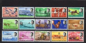 SOLOMON ISLANDS 1968 YEAR SET OF 15 STAMPS MNH