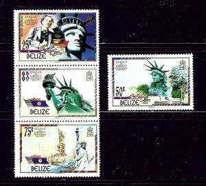 Belize 817-18 MNH 1986 Statue of Liberty