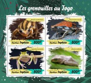 TOGO - 2019 - Frogs of Togo - Perf 4v Sheet - M N H
