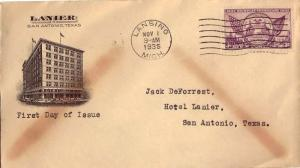 United States Scott 775 Typewritten Address with toning.