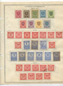 STAMP STATION PERTH Austria # Various Selection of 100 Stamps Mint /Used 1920-24
