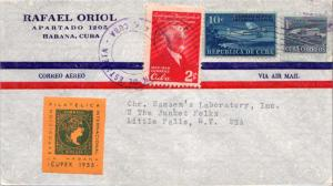 Cuba 1c Proposed Communications Building Postal Tax, 2c Varona and 10c Airpla...