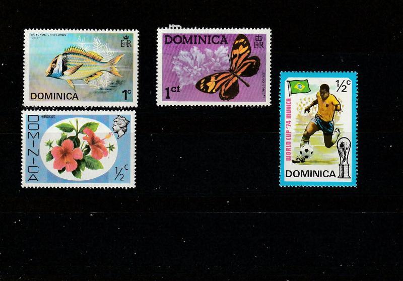 #422,428,454,395 Dominica Mint OGLH