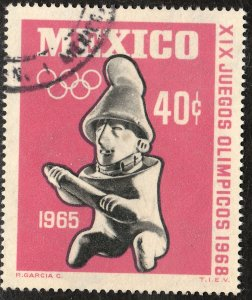 MEXICO 966 40c 1st Pre-Olympic Issue - 1965 Used VF. (12)