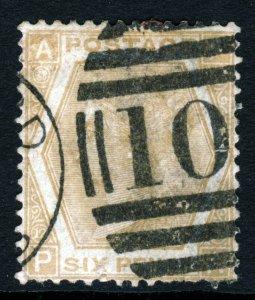 GB Queen Victoria 1872 6d. Pale Buff Plate 12 PA SG 123 (Spec. J80[1]) VFU
