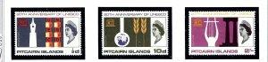 Pitcairn Is 64-66 MNH 1966 UNESCO           (KA)