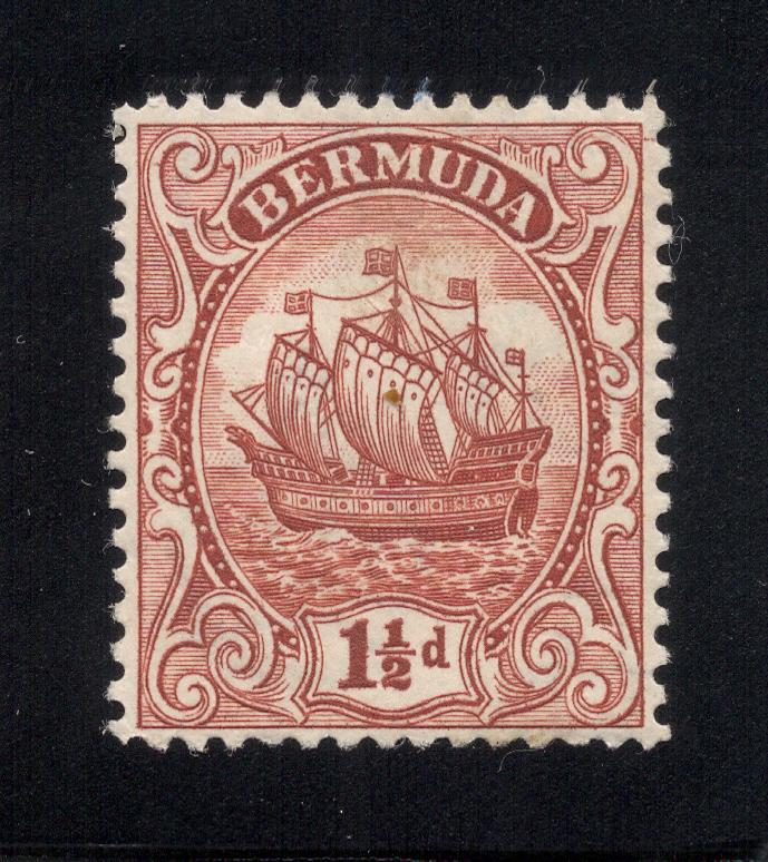 Bermuda #84 Red Brown - Unused - O.G.