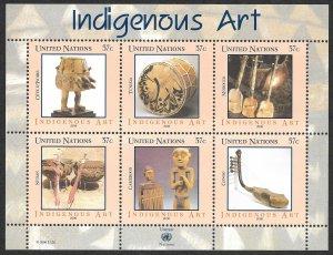 Doyle's_Stamps: 2006 U.N. Indigenous Art Mini-Sheet Set