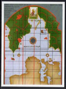 British Virgin Islands 756 Map Souvenir Sheet MNH VF