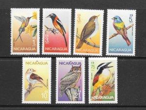 BIRDS - NICARAGUA #1500-6  MNH
