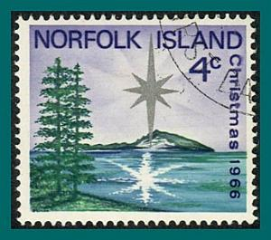Norfolk Island 1966 Christmas, used #99,SG76