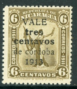 Nicaragua 1913 Liberty Gold Currency 3¢/6¢ Sc 324 MNH W934