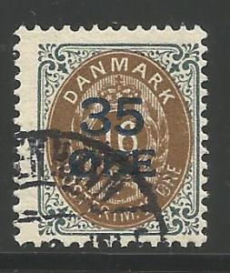 DENMARK 79, USED, 1912 ISSUE