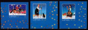 Latvia 2005 Christmas Issue (3) VF/NH Scott 630-632