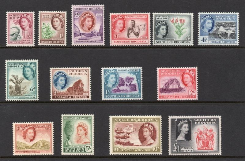Southern Rhodesia 1953 set to £1 superb MNH condition.