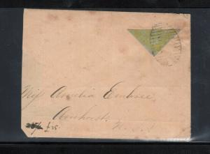 New Brunswick #2b Used Rare Bisect On Cover - Trimmed At Left **With Cert.**